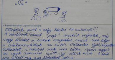 """Néhány jól sikerült válasz a baleseti kárbejelentőkről, a """"Baleset oka"""" rublikában:"""