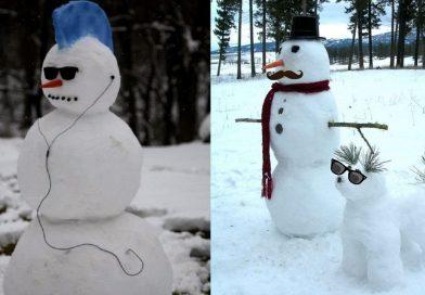 Azért szeretem a havat, mert maximálisan kiélhetem a művészi hajlamaimat… :D :D :D
